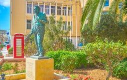 La escultura a Freddie Micallef, Naxxar, Malta fotografía de archivo