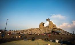 La escultura m?s grande del p?jaro del mundo de Jatayu- imágenes de archivo libres de regalías