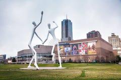 La escultura pública de los bailarines en Denver Imagenes de archivo