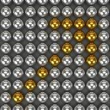 la esfera de la representación 3d es forma de la flecha Fotos de archivo libres de regalías