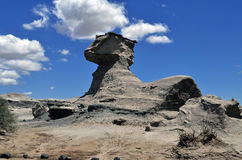 La esfinge (狮身人面象)。伊沙瓜拉斯托省公园。阿根廷 免版税库存照片