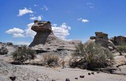 La esfinge (狮身人面象) Ischigualasto地方上的公园 阿根廷 免版税库存图片