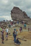 La esfinge, montañas de Bucegi, Rumania Fotografía de archivo