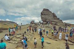 La esfinge, montañas de Bucegi, Rumania Imagen de archivo
