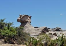 La esfinge (sfinx). Ischigualasto Provinciaal Park. Argentinië Stock Foto
