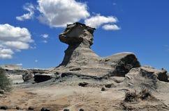 La esfinge (sfinx). Ischigualasto Provinciaal Park. Argentinië Royalty-vrije Stock Foto