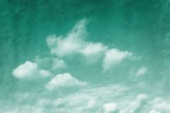 La esmeralda teñió el cielo Imágenes de archivo libres de regalías