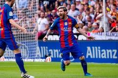 La español Liga: FC Barcelona del Valencia CF v foto de archivo libre de regalías