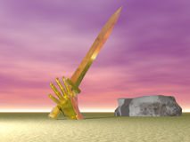 La espada nunca duerme Fotografía de archivo libre de regalías