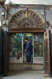 La especia hace compras en los bazares de Damasco, Siria Fotografía de archivo