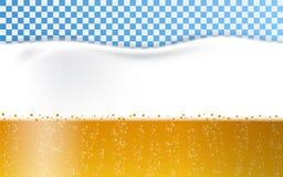 La espuma de la cerveza burbujea fondo del concepto, estilo realista stock de ilustración