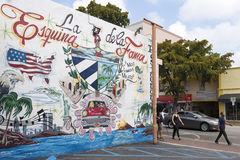 La Esquina de la Fama,Miami, Florida, United States Stock Photo
