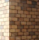 La esquina de una pared de ladrillo Imagen de archivo