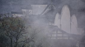 La esquina de Wuzhen en la niebla imagen de archivo libre de regalías