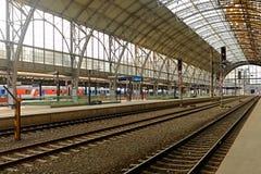 La estación central de Praga Foto de archivo libre de regalías