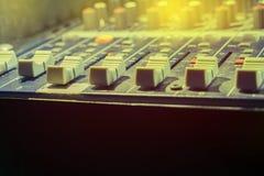 La estación de control de la música fotos de archivo libres de regalías
