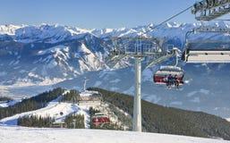 La estación de esquí Zell considera. Austria Imagen de archivo libre de regalías