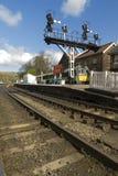 La estación de Grosmont, North Yorkshire amarra el ferrocarril Fotos de archivo