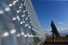 La estación de la energía solar Fotografía de archivo