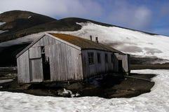 La estación de la pesca de ballenas arruina Ant3artida Foto de archivo libre de regalías
