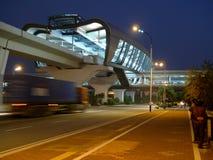 La estación de metro al aire libre Imagen de archivo libre de regalías