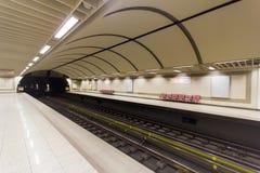 La estación de metro de Atenas Imágenes de archivo libres de regalías