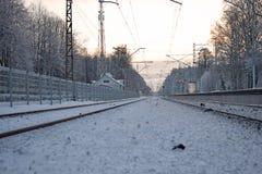 La estación de tren de Babite Fotografía de archivo