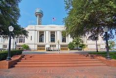 La estación de tren de Dallas Union, la plaza, y la torre Imágenes de archivo libres de regalías