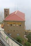 La estación de un cablecarril, Montserrat, Cataluña, España Fotos de archivo libres de regalías
