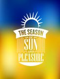 La estación del cartel de Sun y del placer diseña Fotos de archivo libres de regalías