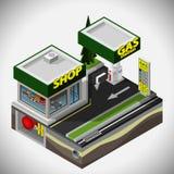 La estación del combustible stock de ilustración