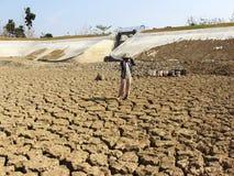 La estación seca en Indonesia Foto de archivo libre de regalías