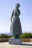 La estatua Aegina Grecia de la madre Fotografía de archivo libre de regalías