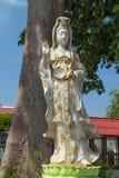 La estatua blanca de Guan Yin Fotos de archivo libres de regalías