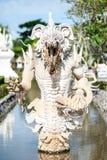La estatua blanca del demonio Fotos de archivo libres de regalías