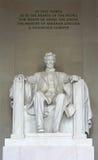 La estatua de Abraham Lincoln Foto de archivo libre de regalías