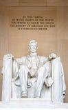 La estatua de Abraham Lincoln Fotos de archivo libres de regalías