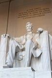 La estatua de Abraham Lincoln Fotografía de archivo libre de regalías