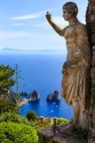 La estatua de Anacapri Foto de archivo libre de regalías