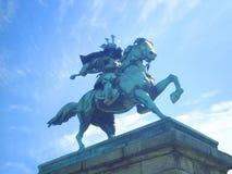 La estatua de bronce del samurai Imagen de archivo libre de regalías