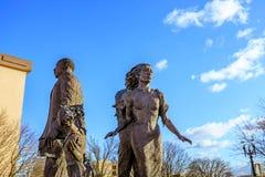La estatua de bronce ideal delante de Oregon Convention Center, Fotografía de archivo libre de regalías