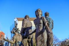 La estatua de bronce ideal delante de Oregon Convention Center, Fotos de archivo libres de regalías