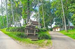 La estatua de Buda en jardín Imagen de archivo