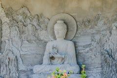 La estatua de Buda está bajo construcción en el templo Tailandia Fotografía de archivo