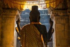 La estatua de dios de Vishnu en Angkor Wat, costura cosecha, Camboya Foto de archivo libre de regalías