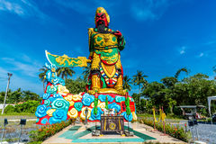 La estatua de Guan Yu en Phuket, Tailandia Fotos de archivo