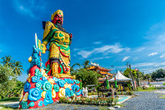 La estatua de Guan Yu en Phuket, Tailandia Imagenes de archivo