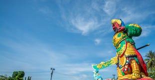 La estatua de Guan Yu en Phuket, Tailandia Foto de archivo