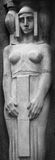 La estatua de la diosa Hera en la mitología griega, y Juno en R Fotos de archivo