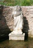 La estatua de la diosa Isis Tyche Parque arqueológico Dion Foto de archivo